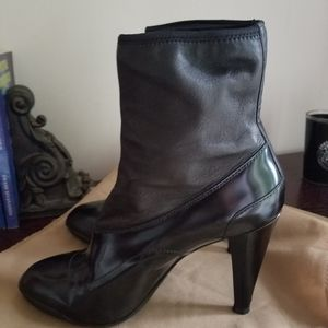 New TOD'S patent sock booties sz 8
